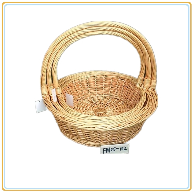 customized willow storage basket sets